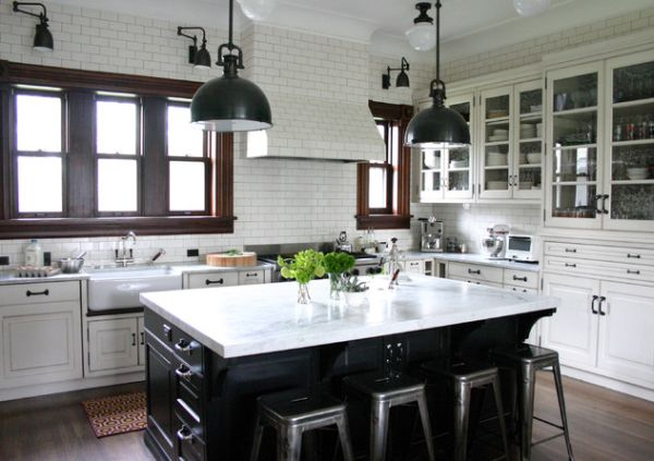 fabulous black white kitchen design ideas | Fabulous Kitchen Island Designs