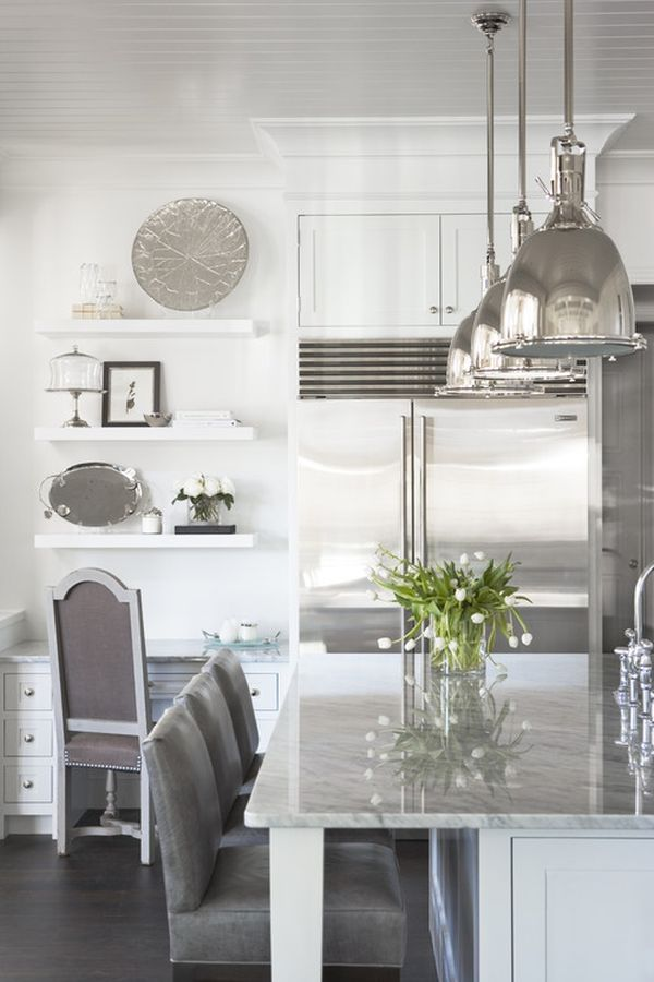 silver kitchen accessories decorating with whites amp silvers ideas and inspiration 2223