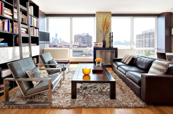 Give Your Living Room An Elegant Look With A Brown Leather Sofa