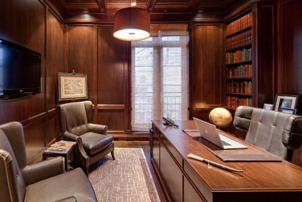 Superbe Wood Paneling Adds Elegance And Warmth To Your Home Office