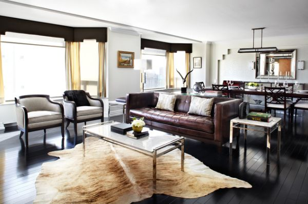 Give Your Living Room An Elegant Look With A Brown Leather