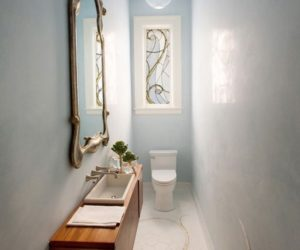 How To Make A Narrow Powder Room Feel Inviting And Comfortable – 15 Ideas