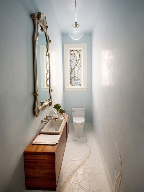 How To Make A Narrow Powder Room Feel Inviting And Comfortable U2013 15 Ideas