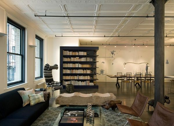 Modern Soho Loft With Industrial Touches And Bold Colors
