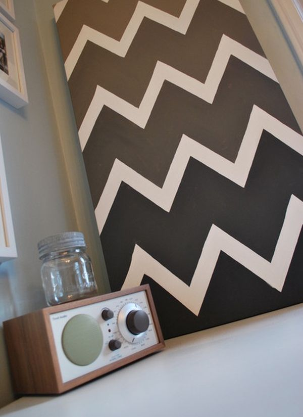chevron template for painting - cool uses of chevrons with modern interiors