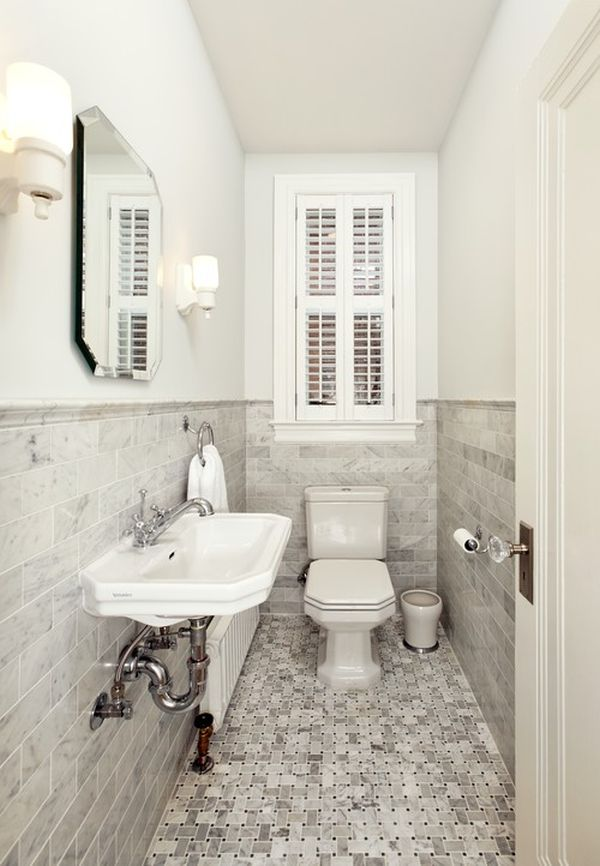 How to make a narrow powder room feel inviting and for Living room 5x3