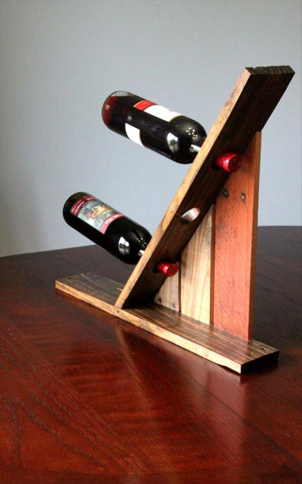 Bottles holder. & Wine Racks And Bars Made Of Recycled Wooden Pallets