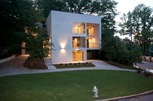 20 modern and contemporary cube shaped houses Window styles for contemporary homes
