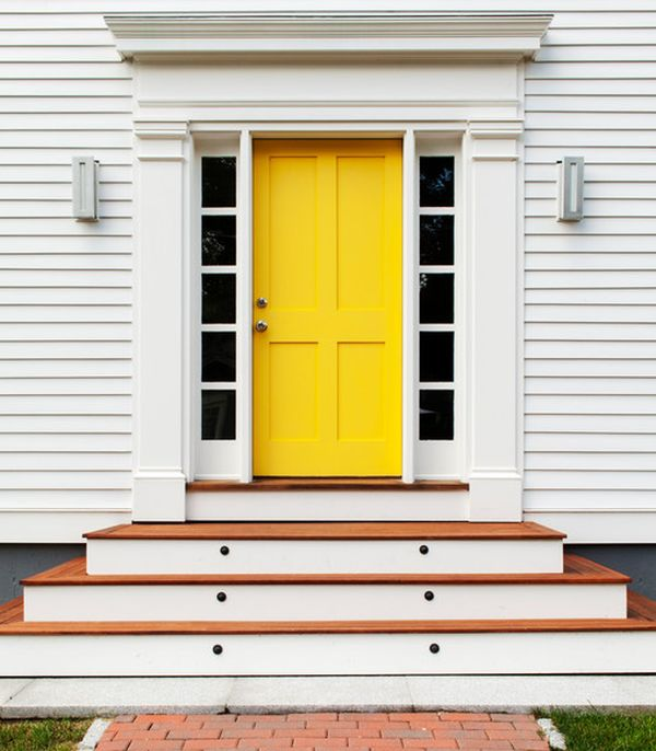 white front door yellow house. white front door yellow house s