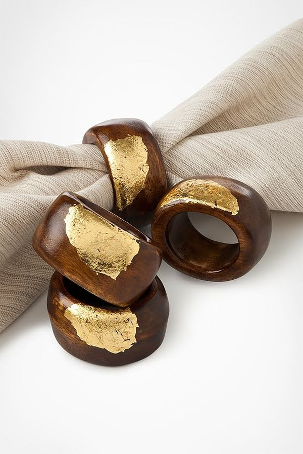 18 gold leafed diy projects that sparkle with elegance for How to make a wooden ring