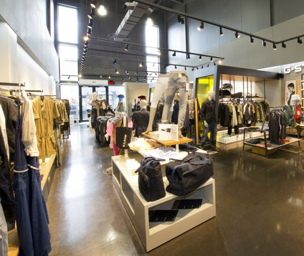 Industrial retail interior design for Retail interior designs