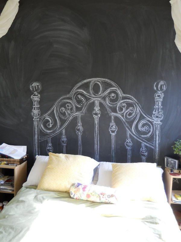 Chalkboard headboards. 101 Headboard Ideas That Will Rock Your Bedroom
