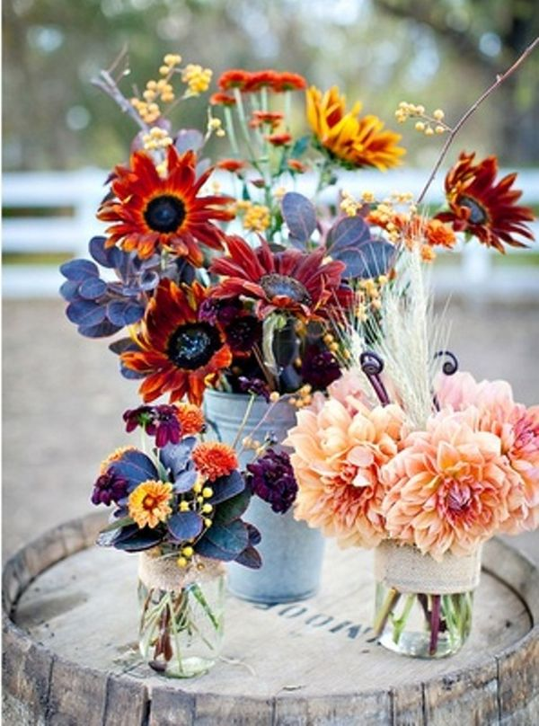 20 Centerpiece Ideas For Fall Weddings