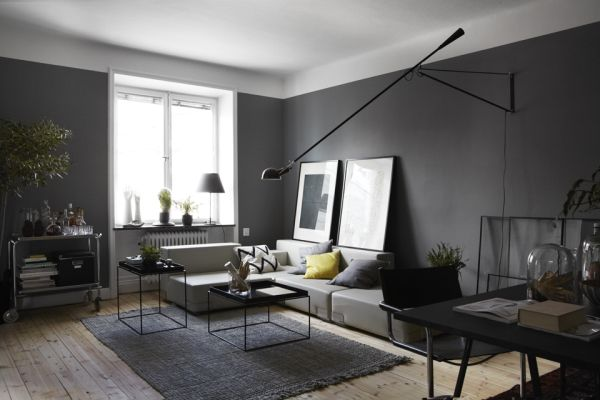 Masculine - Dark Apartment Interior Design