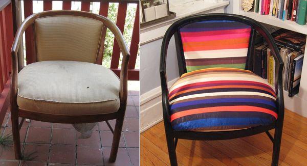 10 rejuvenating chair makeovers you can easily do yourself - Tapizar sillas de comedor ...