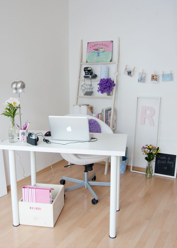& 30 Best Glam Girly Feminine Workspace Design Ideas