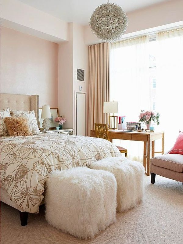 26 dreamy feminine bedroom interiors full of romance and softness. Black Bedroom Furniture Sets. Home Design Ideas