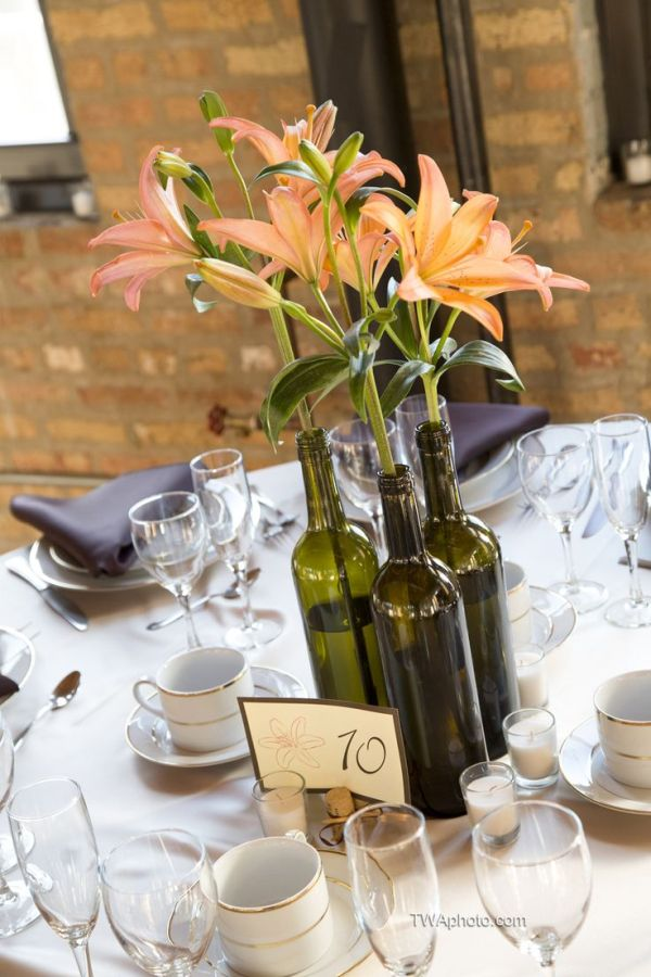 24 Stunning Wine Bottle Centerpieces You Never Thought