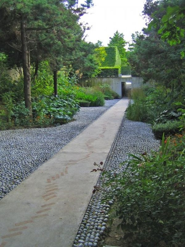 55 inspiring pathway ideas for a beautiful home garden - Garden pathway design ideas with some natural stones trails ...