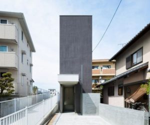 Narrow Ultra-Modern, Concrete Home Measuring 13 ft. Wide by 115 ft. Deep