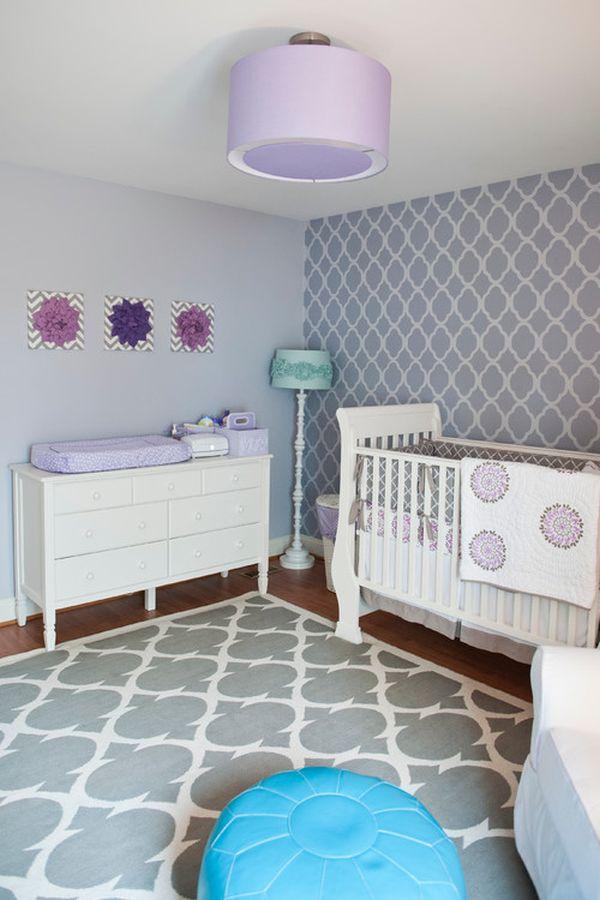 beautiful charming lavender nurseries ideas inspiration. Black Bedroom Furniture Sets. Home Design Ideas