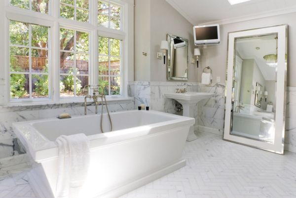 Give Your White Bathroom A Fresh Spin