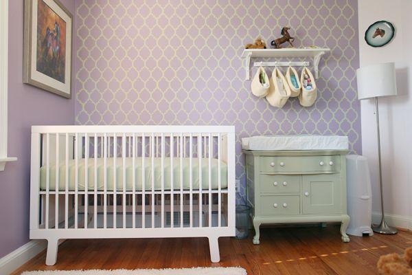 Beautiful charming lavender nurseries ideas inspiration - Purple baby girl nursery ideas ...