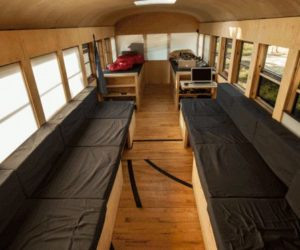 School Bus Transformed Into A Functional And Mobile Home