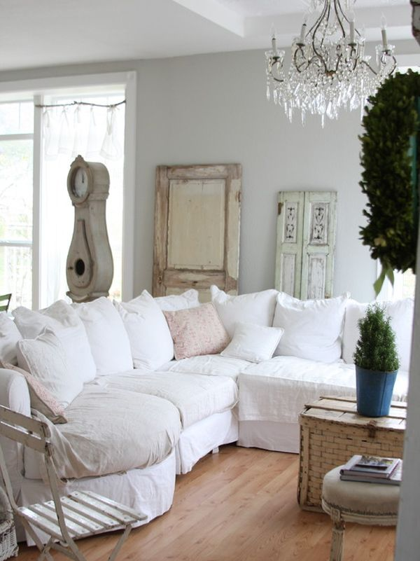 How to achieve shabby chic d cor for Copridivano shabby