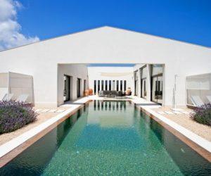 Modern Country Villa Featuring A Spacious And Sunny Interior Courtyard