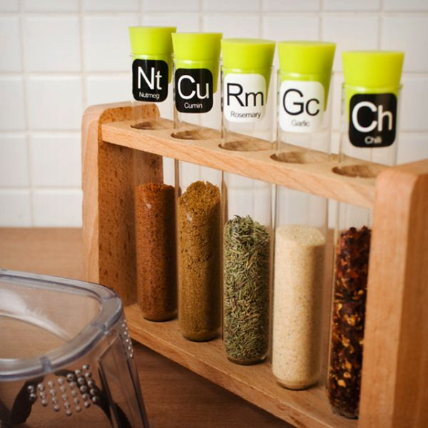 Scientific Spice Rack.