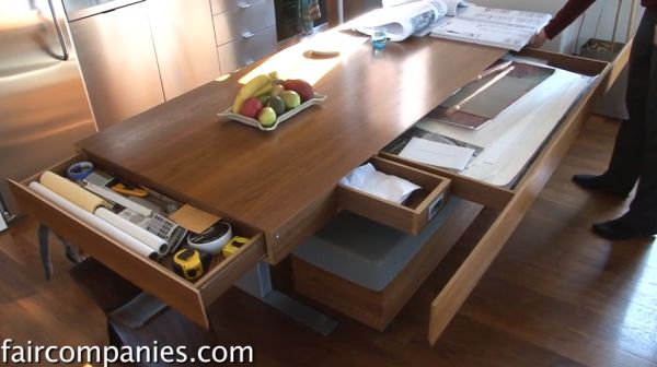 & Compact Apartment With Folding Walls And Tons Of Hidden Storage[Video]