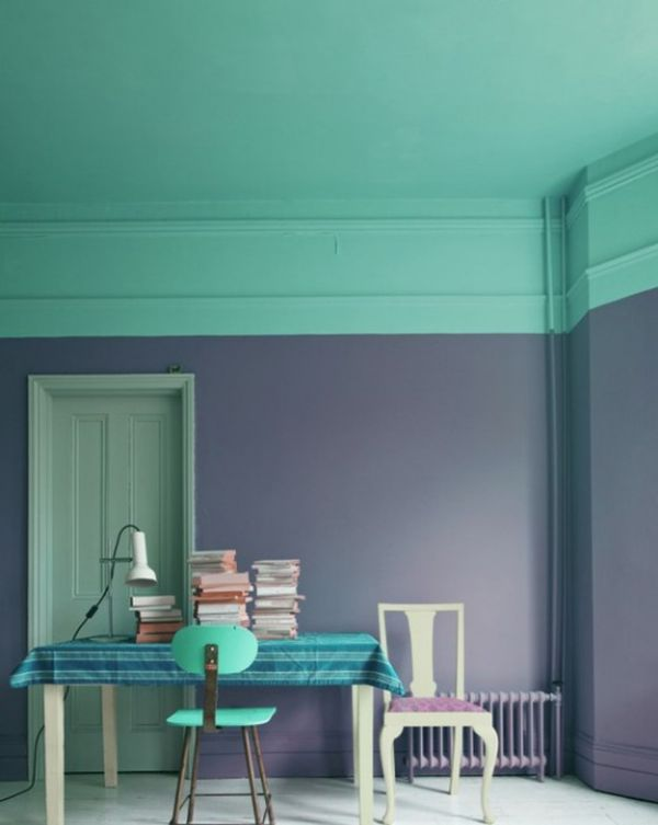 two toned walls that work colorblocking inspiration 20044 | two tones wall decor