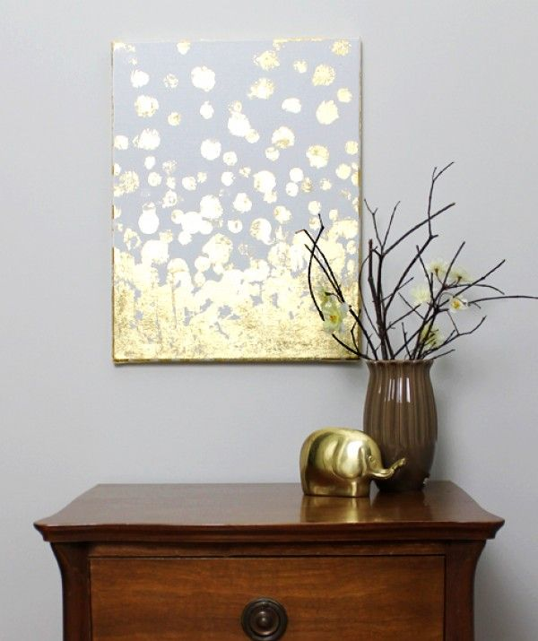18 gold leafed diy projects that sparkle with elegance wall art gold leaf gumiabroncs Image collections