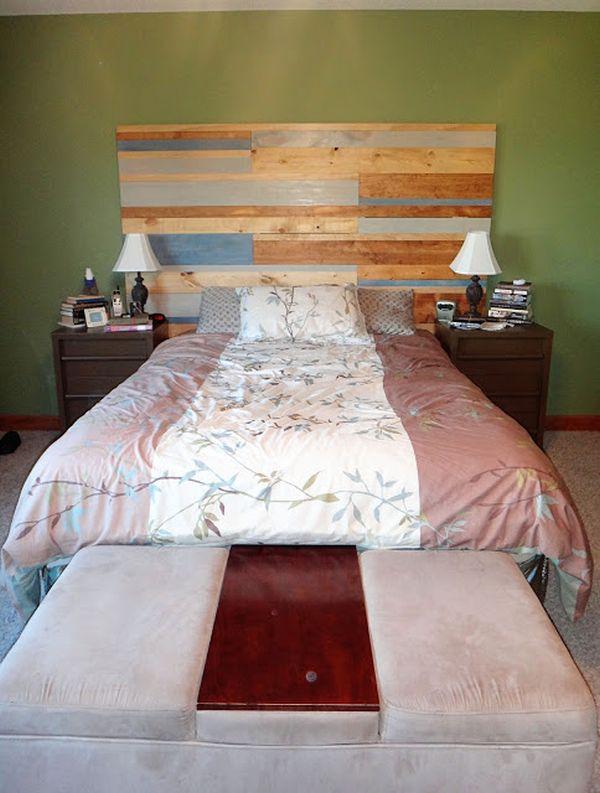 Reclaimed Wood Headboard Wall