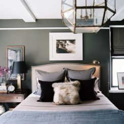 Awesome Dark (and Surprisingly Soothing) Bedroom Walls