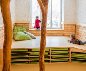 Treehouse By RPA · Fun Treehouse Inspired Kindergarten In A Former Salt  Sauna