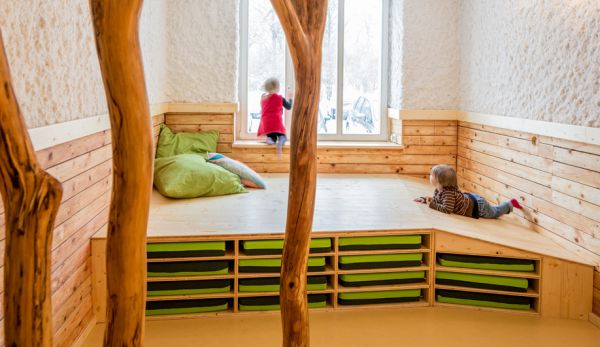 Fun Treehouse Inspired Kindergarten In A Former Salt Sauna