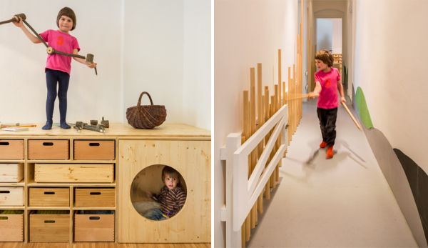 Fun Treehouse Inspired Kindergarten In A Former Salt Sauna
