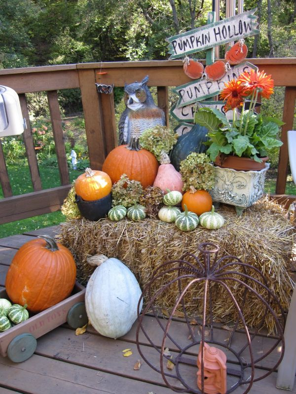 12 fall d cor ideas for and from the garden Fall outdoor decorating with pumpkins