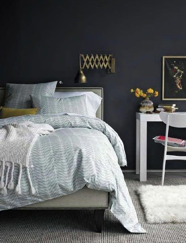 Romantic Blue Bedroom Ideas: Dark (and Surprisingly Soothing) Bedroom Walls