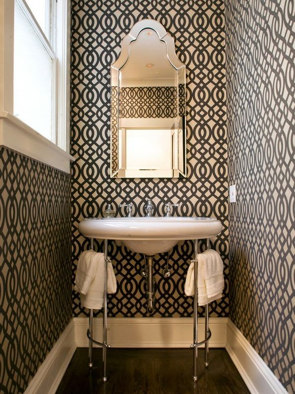 How To Make A Narrow Powder Room Feel Inviting And