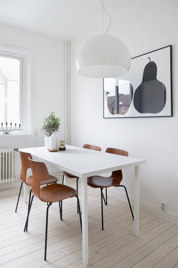 Scandinavian Tables Bring Simplicity To The Dining Room  : black art design from www.homedit.com size 600 x 905 jpeg 49kB