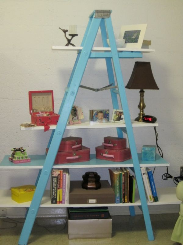 15 Creative Ways In Which You Can Use Ladders For Shelving