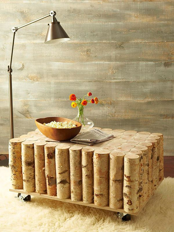 Brick Log Coffee Table.