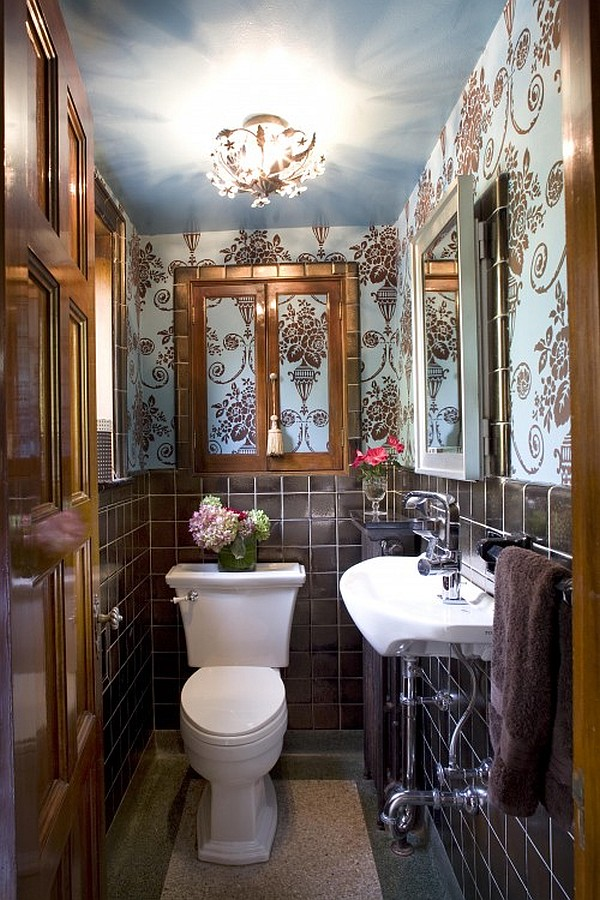 How To Make A Narrow Powder Room Feel Inviting And Comfortable - 15 ...