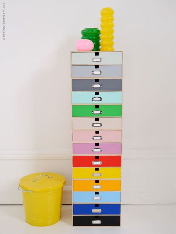 Colorful and easy diy projects that can always make your - Cajones de madera ikea ...