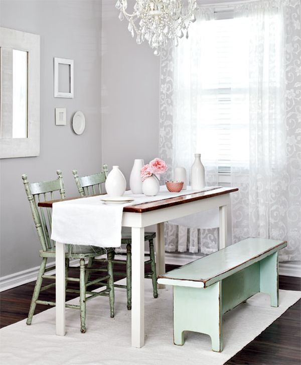 Scandinavian tables bring simplicity to the dining room for Vintage style dining room ideas