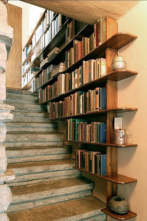 Staircase Shelving smart stairs: squeezing space out of your staircase