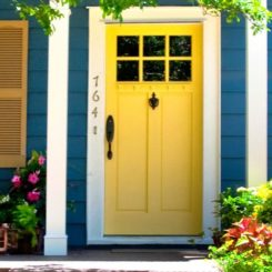 10 bold inspiring front doors - Jonquil yellow interior design ideas with surprising appeal ...